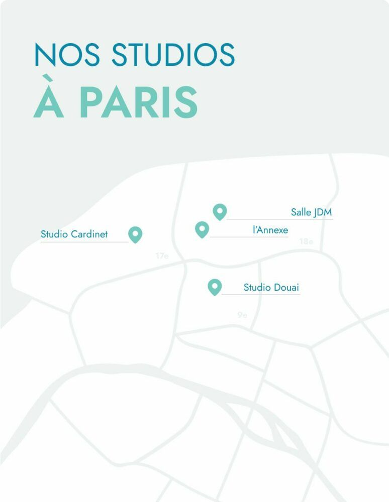Carte studios paris Yay