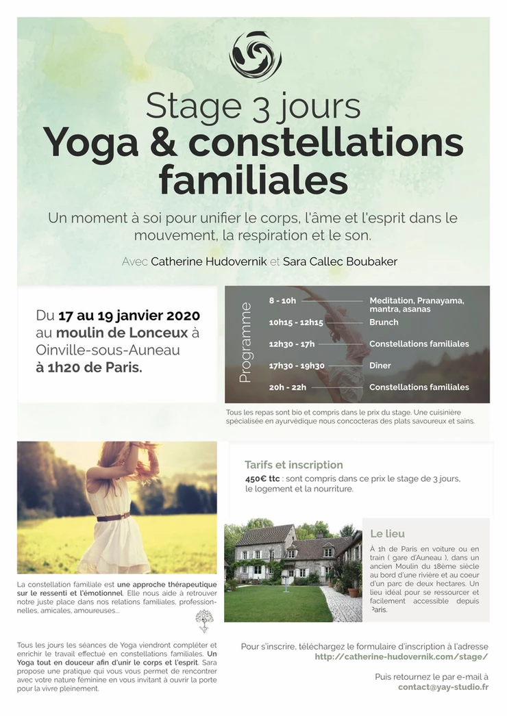 Stage yoga & constellations Familiales